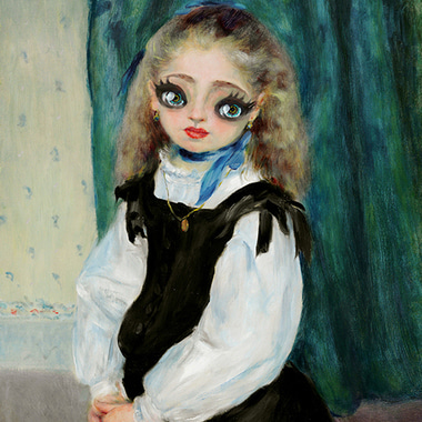 Portrait of Mademoiselle Legrand (hommage of Pierre-Auguste Renoir's) 2018